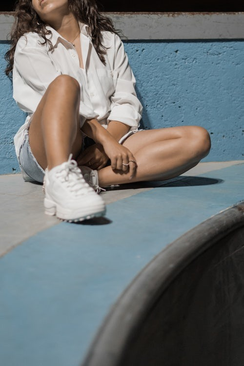 zapatos blancos (2